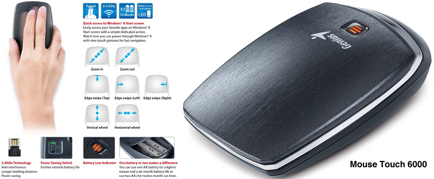 Genius - Mouse Touch 6000