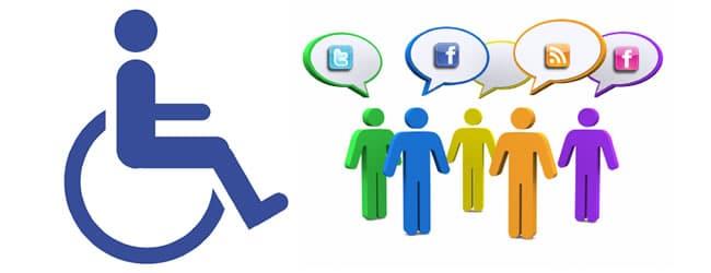 Redes sociales discapacitados