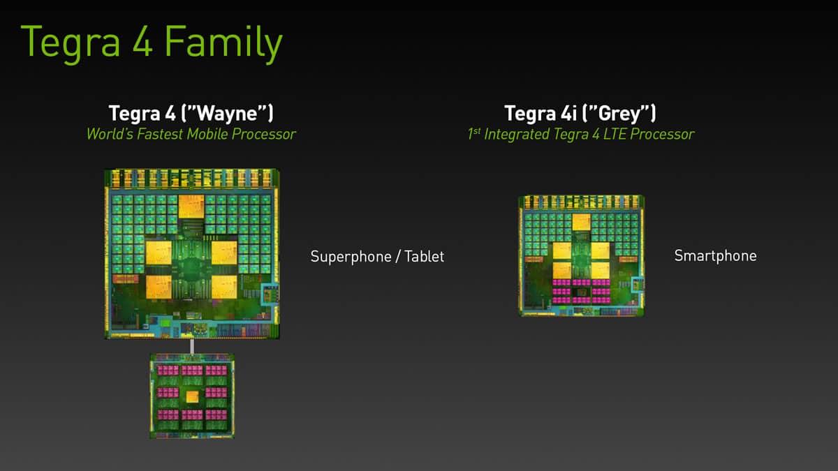 Familia Tegra 4