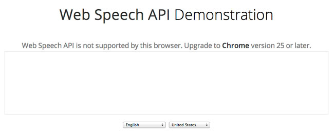 Web Speech API