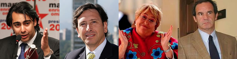 Algunos precandidatos chilenos 2013