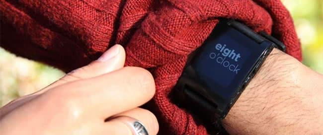 Pebble, reloj inteligente.