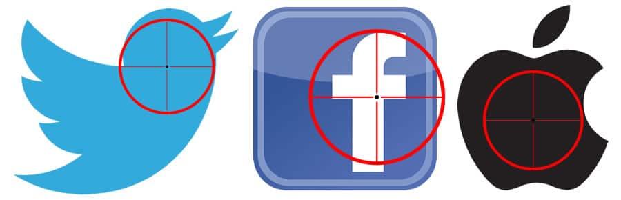 Twitter - Facebook - Apple (atacados)