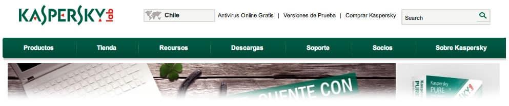 Kaspersky Web - Tienda Chile