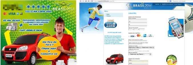 Phishing - Mundial de Futbol 2014