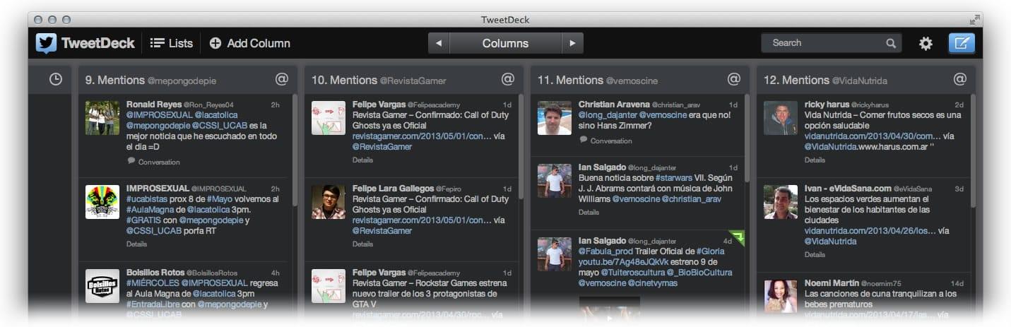 TweetDeck (Mac)