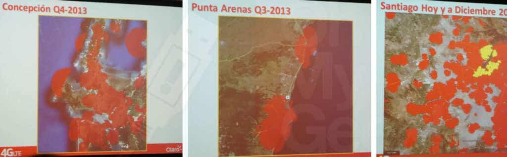 Coberturas 4G: Concepcion - Valparaiso - Santiago