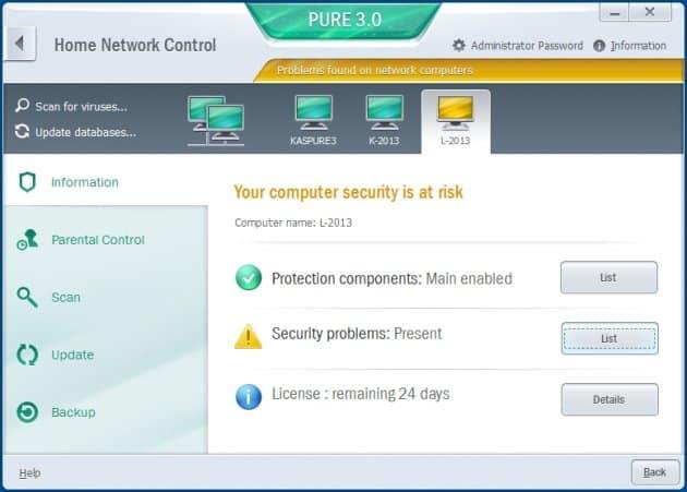 Kaspersky Pure 3.0 UI