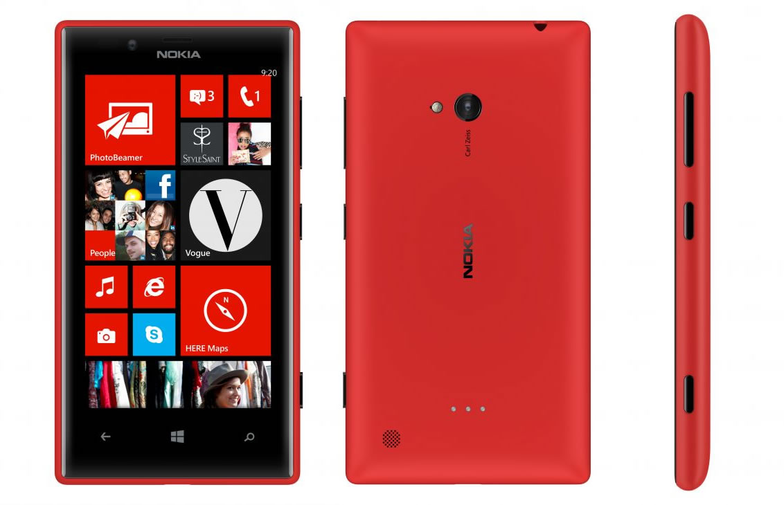 Nokia Lumia 720 (Rojo)