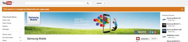 YouTube Samsung Mobile