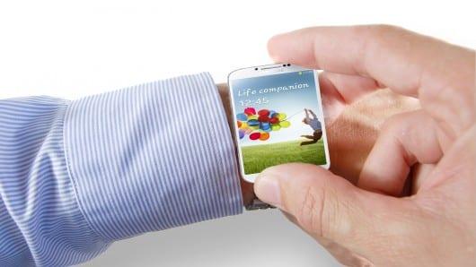 Imagen de un supuesto reloj Samsung, no es real.