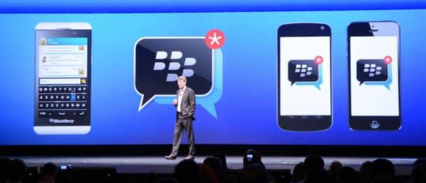 Anuncio de BBM para iOS y Android en mayo de 2013.