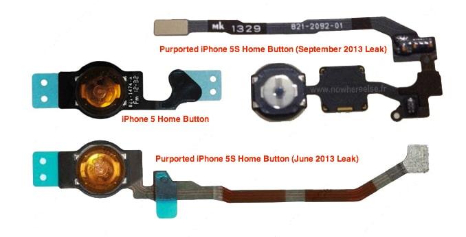 Comparación de supuesto Botón Home iPhone 5S con otros.