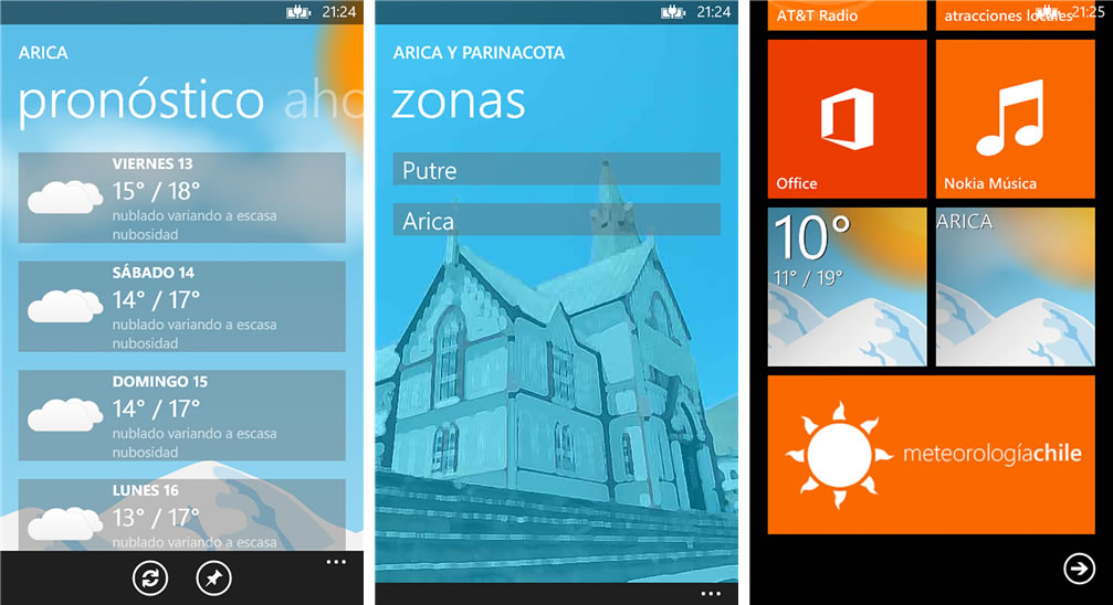 Meteorologia Chile WP App