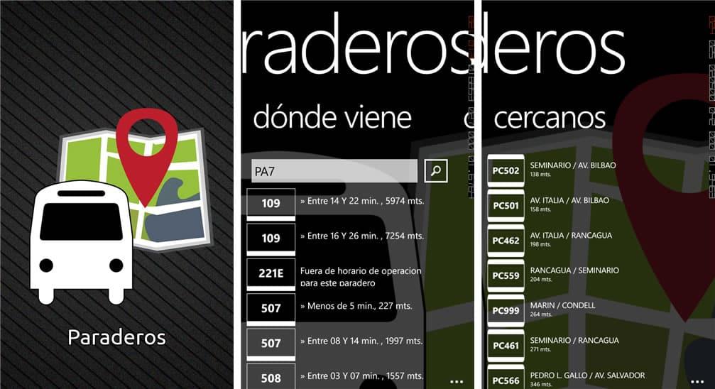 Paraderos WP App