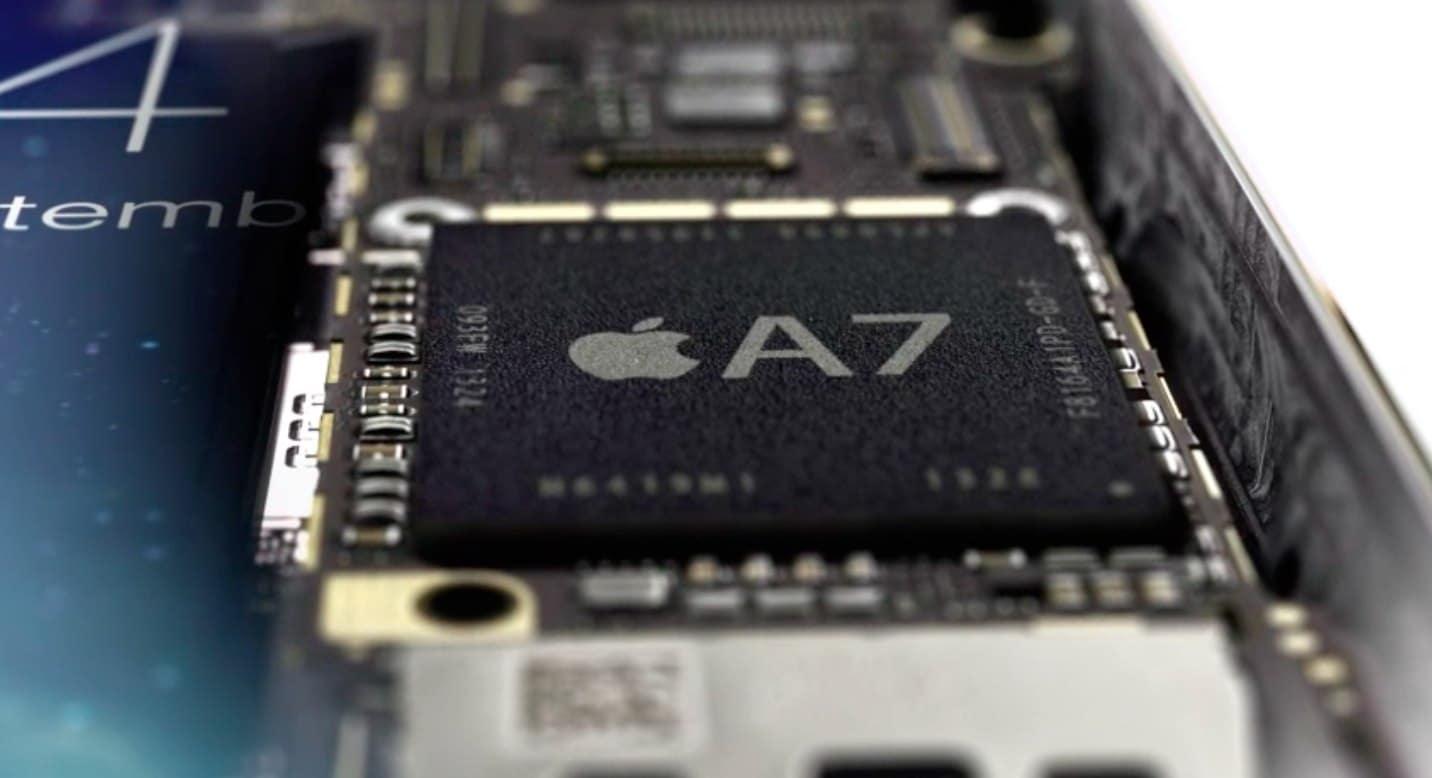 Samsung fabrica los chips A7 de Apple.
