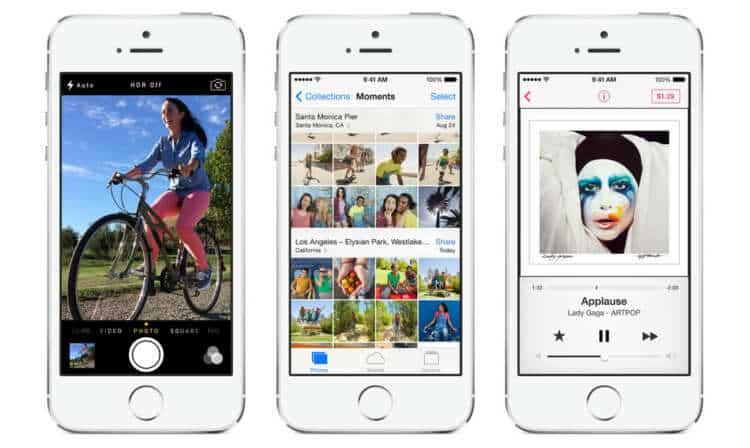iPhone 5S corriendo el nuevo iOS 7