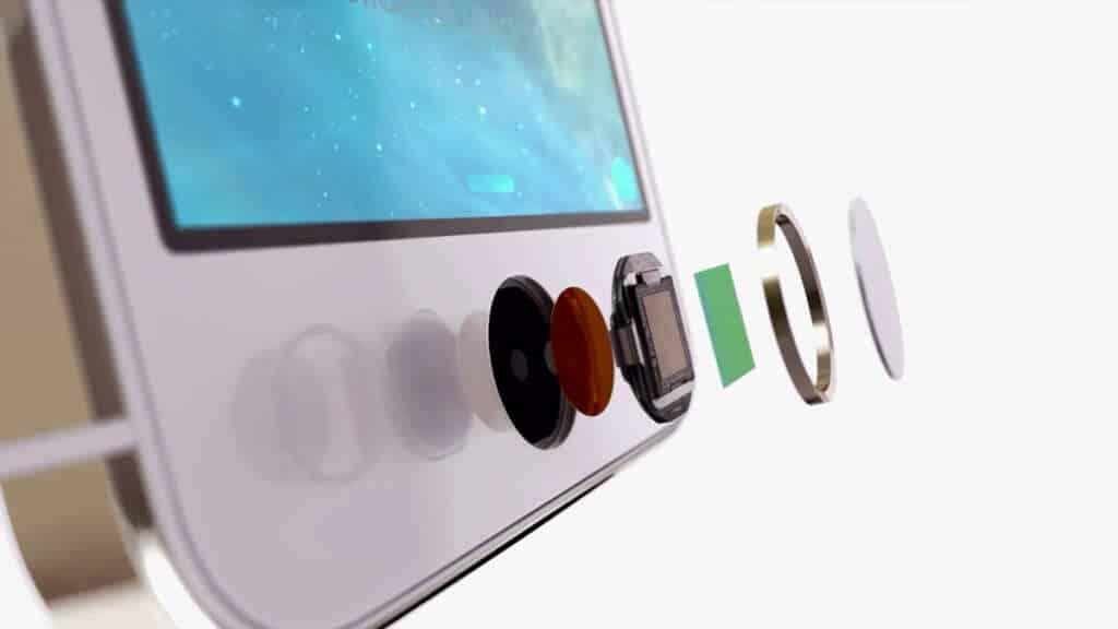 Touch ID está debajo del botón de Inicio.