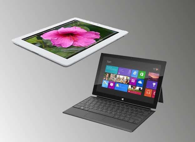 Microsoft cambiará iPads viejos para promover las ventas del Surface.
