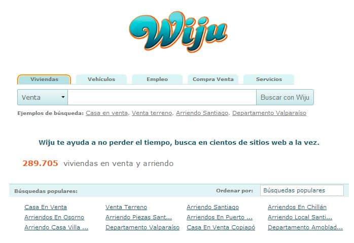 En Wiju puedes buscar viviendas, vehículos, empleo, compra/venta y servicios.