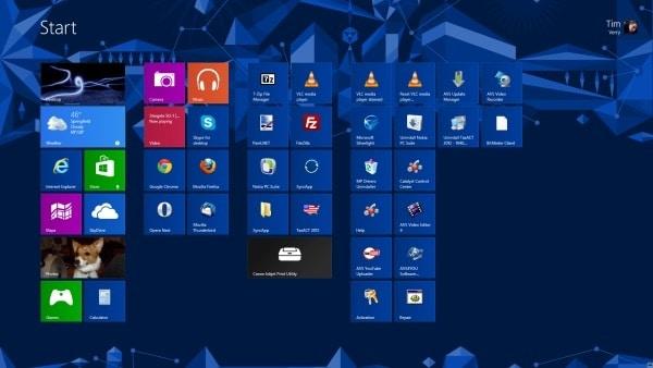 Fondos y nuevos tamaños de íconos son parte de las modificaciones visuales de Windows 8.1