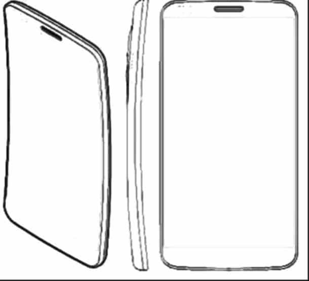 Así podría ser el smartphone de pantalla OLED curva de LG.