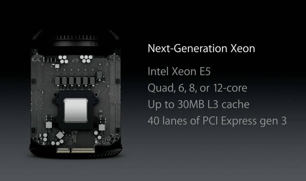 Nueva Mac Pro usa procesadores Intel Xeon.