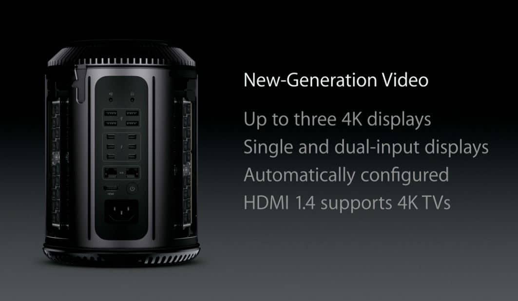 Nueva Mac Pro soporta video en 4K.