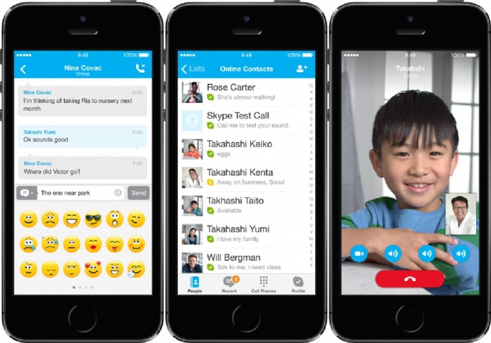 Skype cambió su imagen para iOS7.