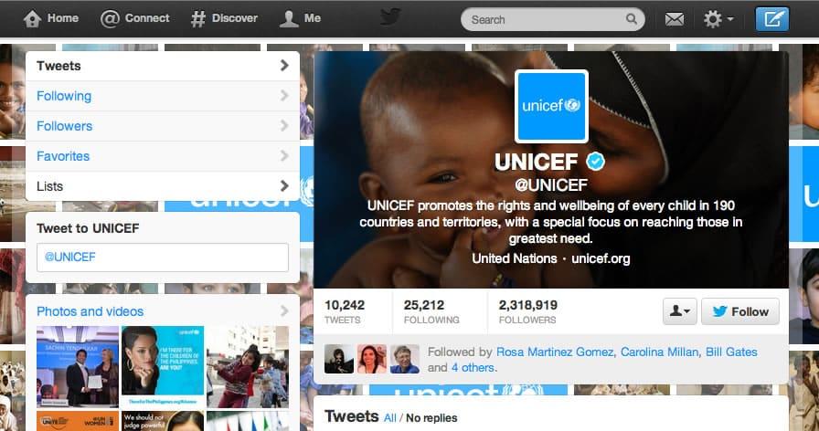 UNICEF Twitter