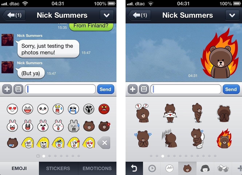 El aumento de stickers y juegos  ha sido clave para el éxito de Line.