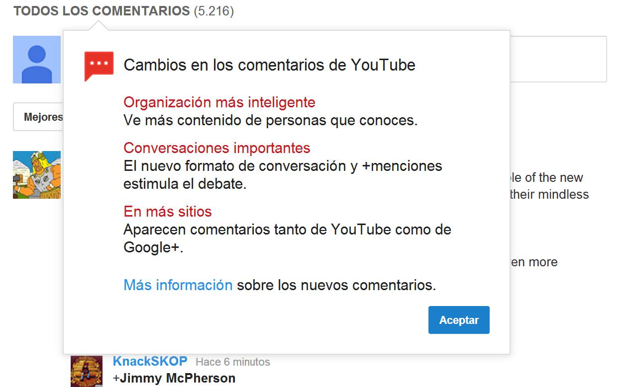 Youtube hace tiempo busca la forma de mejorar su servicio de comentarios.