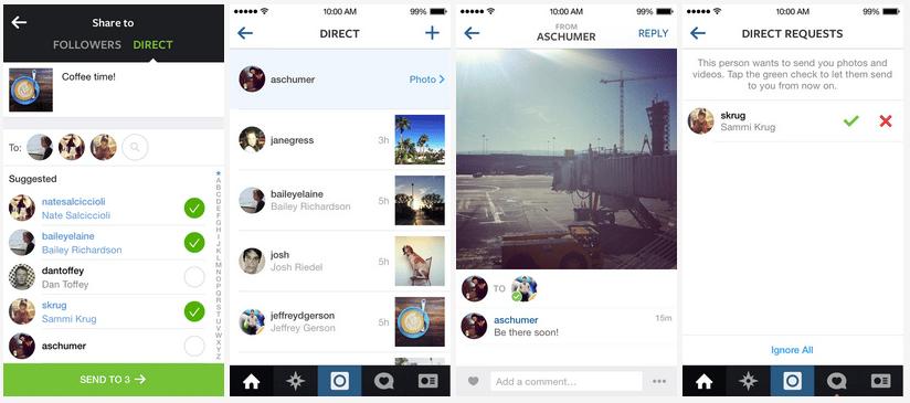 Instagram Direct lo encontrarás implementado en la versión 5.0 de la plataforma.