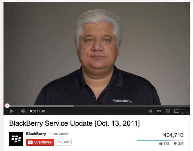 Mike Lazaridis ha estado en las buenas y malas con BlackBerry. El 2011 dio la cara por el apagón que sufrió el servicio canadiense.