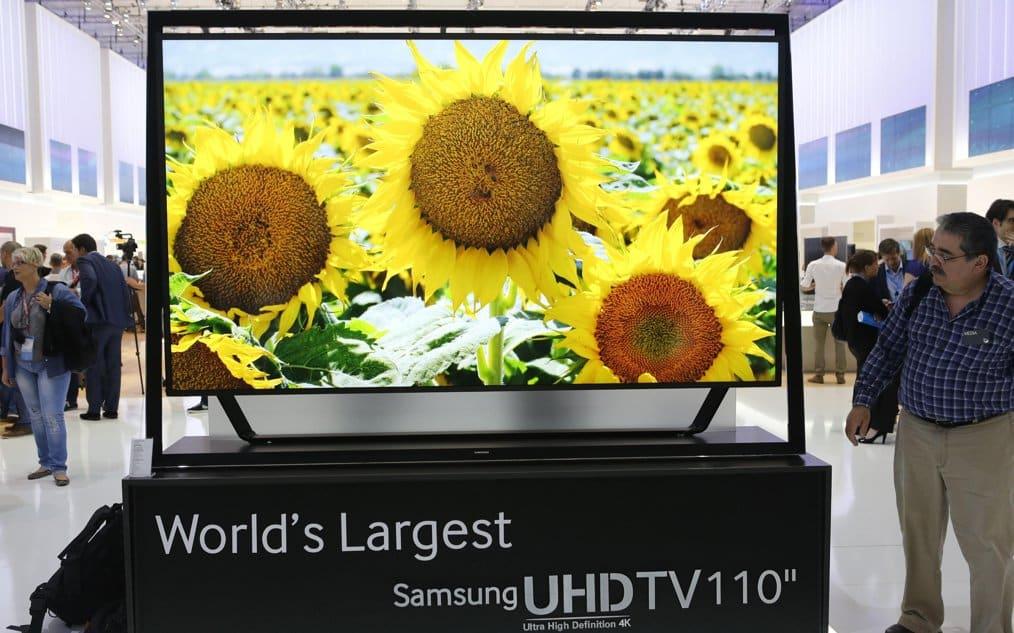 US$150.000 cuesta en Corea del Sur este televisor Samsung con resolución 4K y una pantalla de 110 pulgadas.