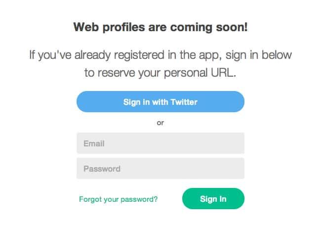 Ingresando con tu cuenta Twitter o el correo registrado, personalizas tu URL en Vine.