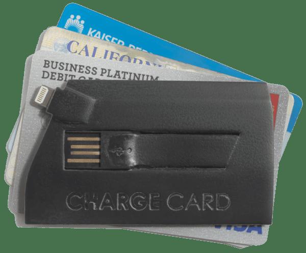 ChargeCard tiene un diseño como tarjeta de crédito para facilitar su portabilidad.