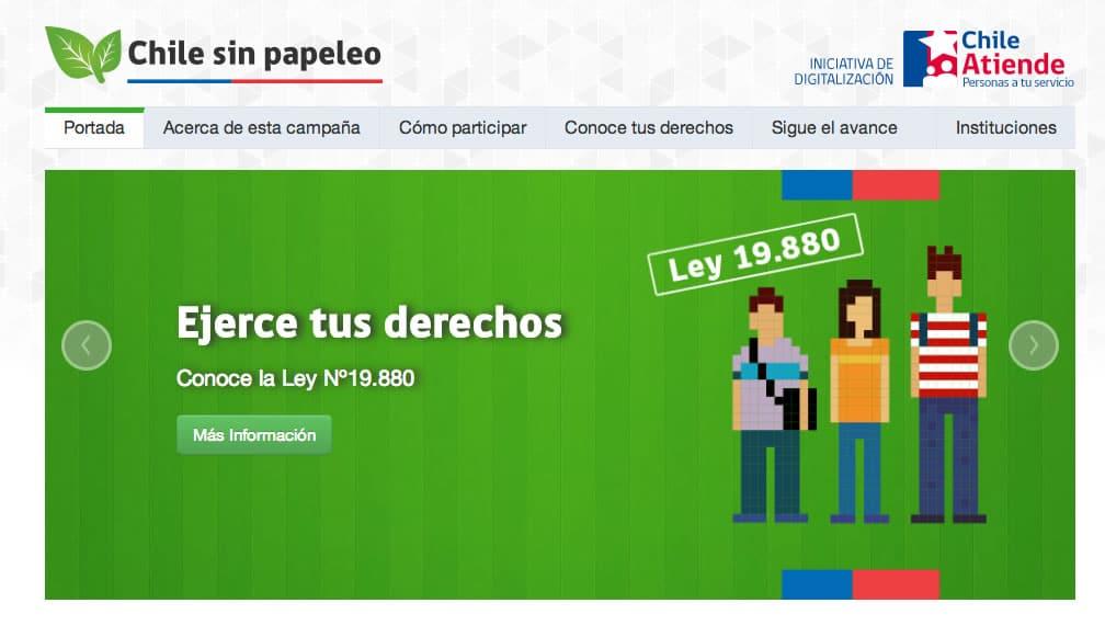 Esta es la Web de la campaña de digitalización de trámites públicos.