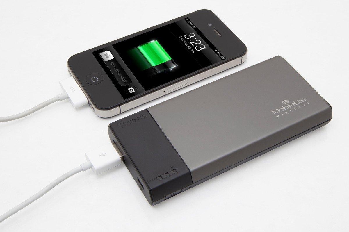 MobileLite Wireless es capaz de cargar tu dispositivo móvil.