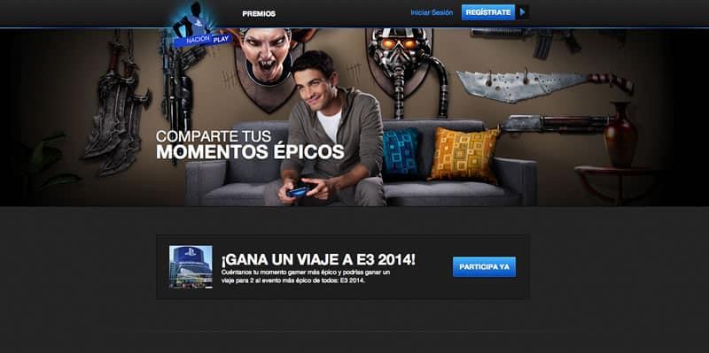 Así luce la Web de Nación Play.