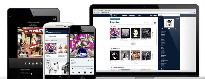 Napster está presente en múltiples dispositivos.