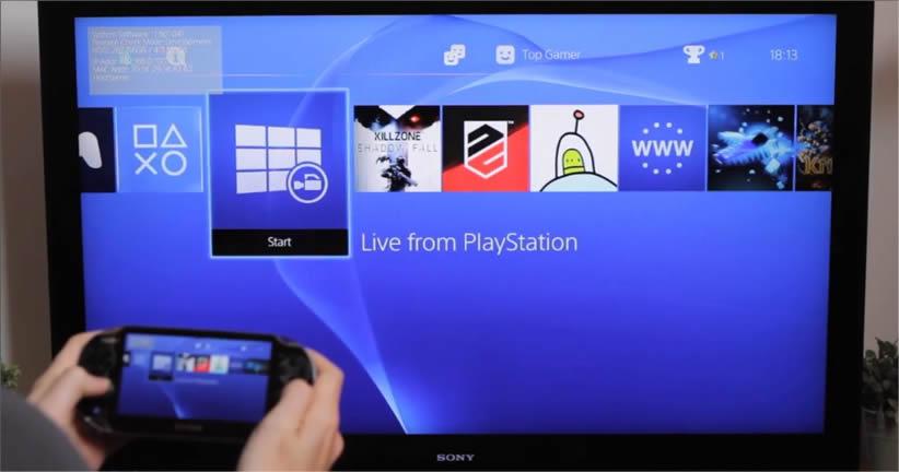 La función Remote Play permite al usuario ocupar la PS Vita como segunda pantalla.