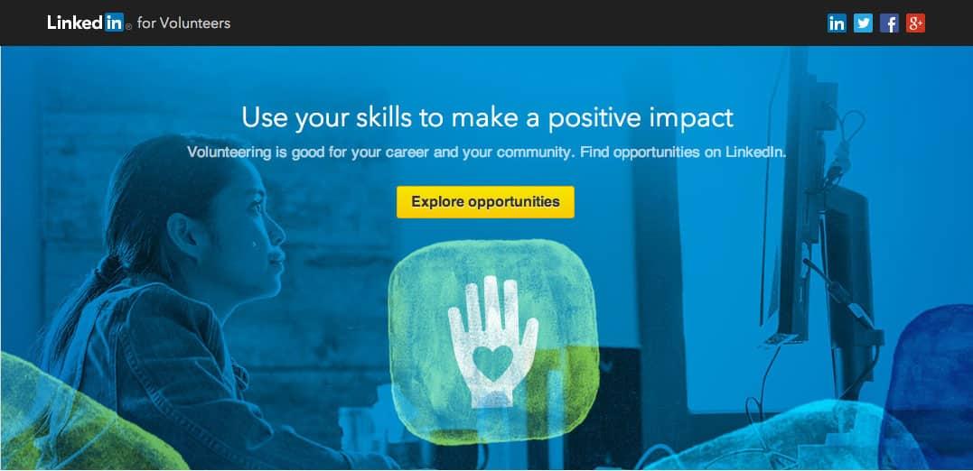 Volunteer Marketplace es el nombre de la plataforma de LinkedIN para organizaciones no lucrativas.
