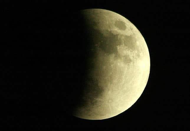 La noche lunar puede durar hasta dos semanas.