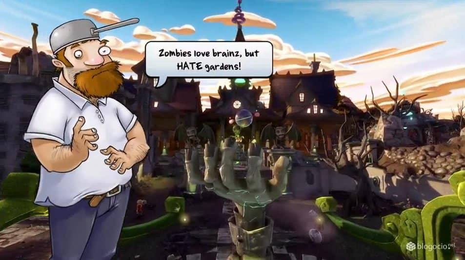 El Loco Dave seguirá presente con sus consejos en este Plants vs. Zombies Garden Warfare.