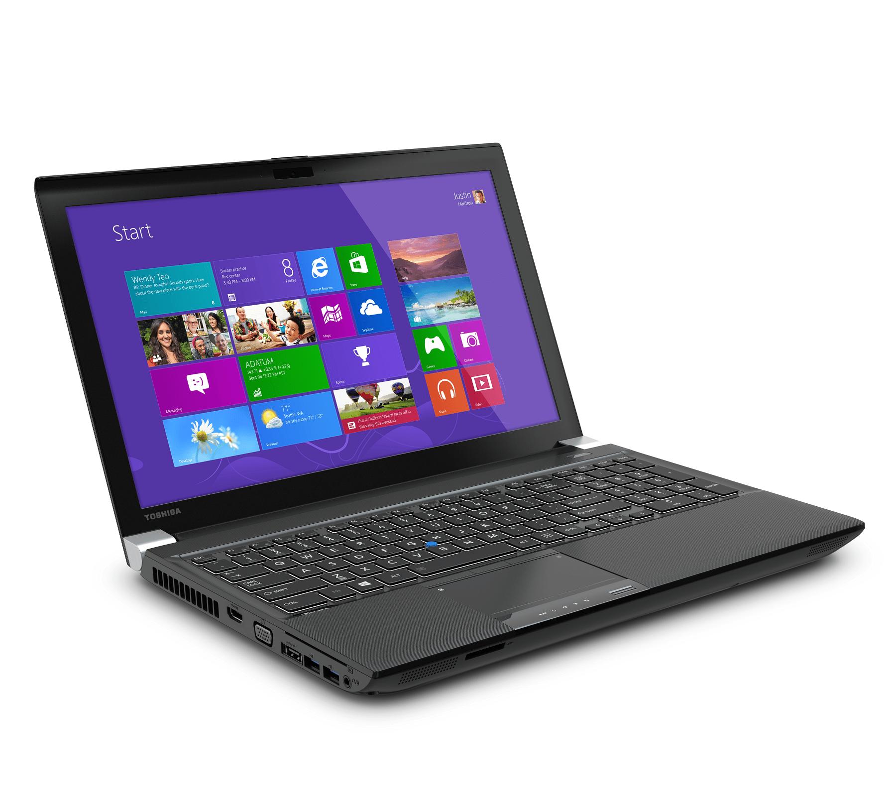 Toshiba presentó el Tecra W50 en la CES 2014. Su equipo de trabajo con resolución 4K.
