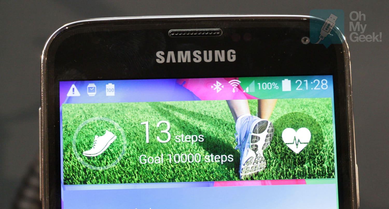 El Galaxy S5 al igual que el Xperia Z2 están muy inmersos en el mundo del fitness y registro diario de tu caminar.