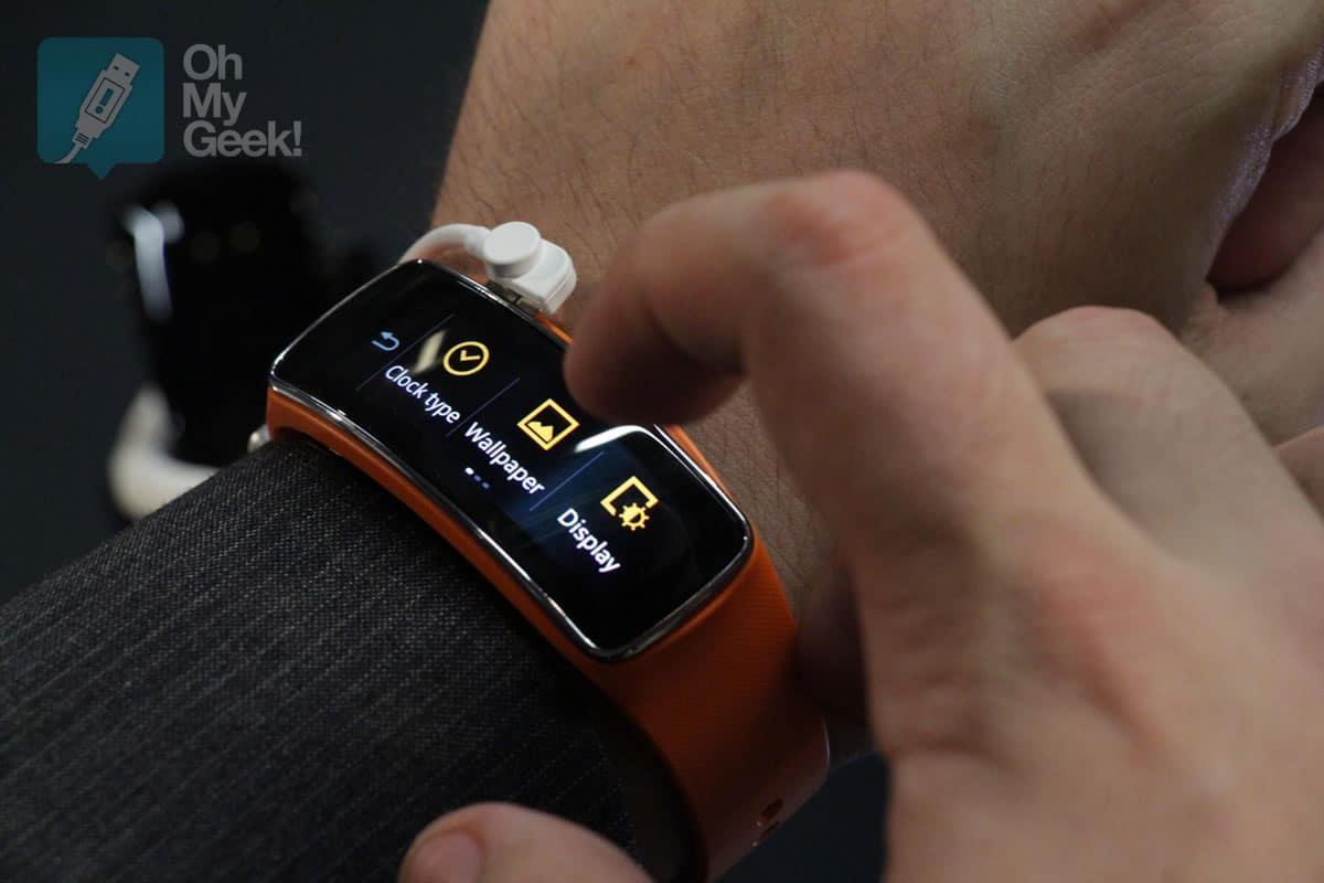 Gear Fit es la pulsera inteligente de Samsung pensada para deportistas.