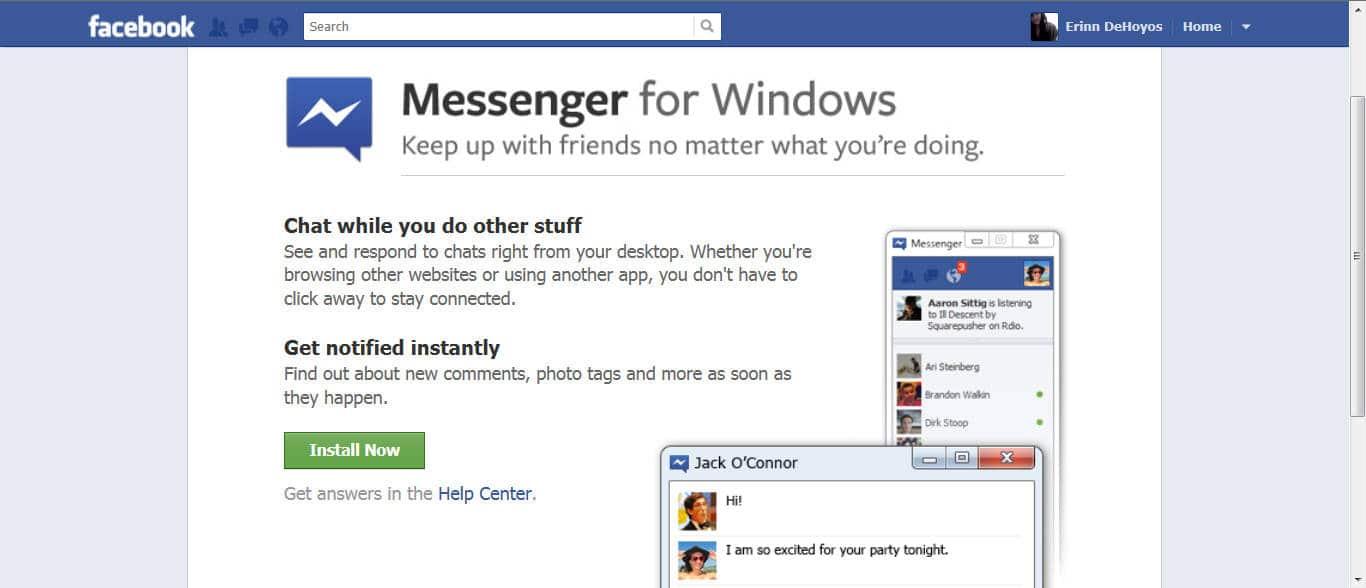 Facebook Messenger para Windows no resultó ser el éxito y ahora cerrará.
