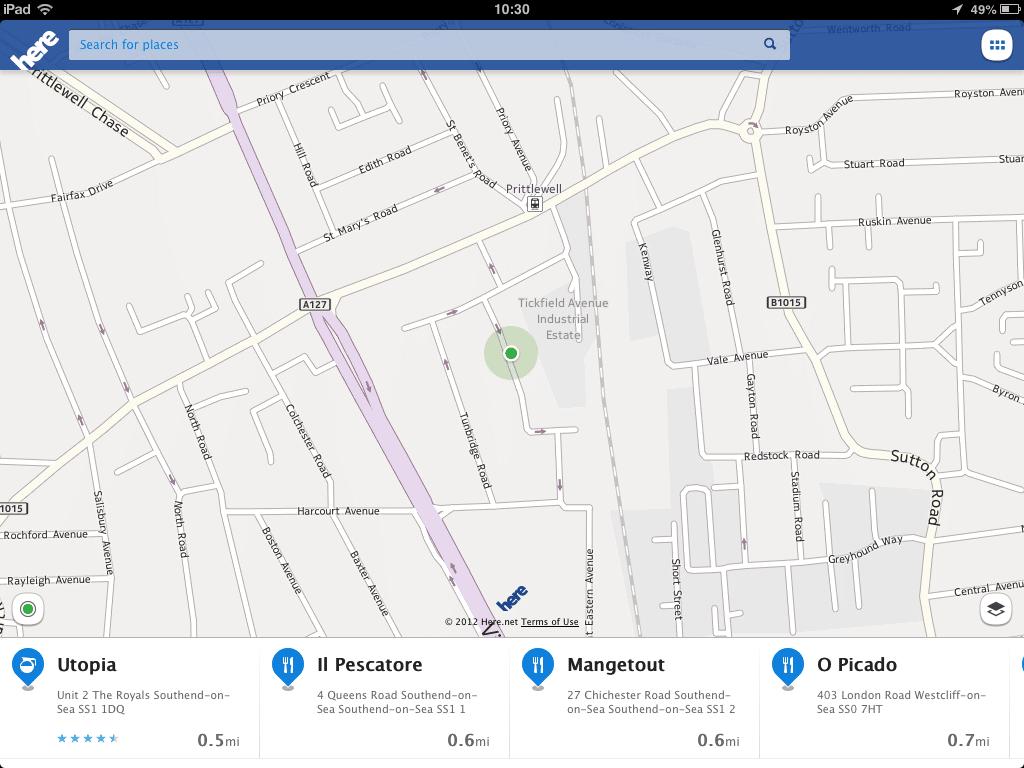 Microsoft aprovecho los Here Maps de Nokia para incluirlos en los equipos con Windows 8.1.